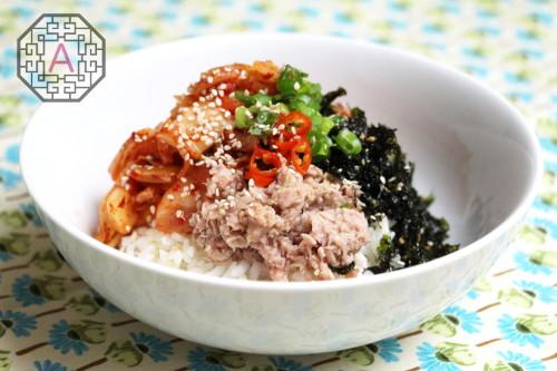 Kimchi Tuna Bibimbap